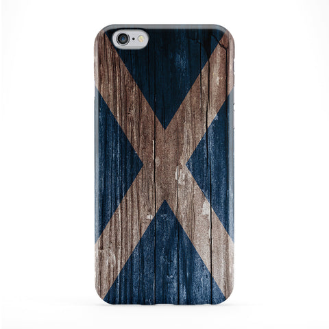 Vintage Wood Flag of Scotland - Scottish Flag - Bratach na h-Alba - Banner o Scotland Phone Case by UltraFlags
