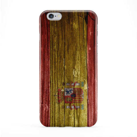 Vintage Wood Flag of Spain - Spanish Flag - Bandera de Espana - la Rojigualda Phone Case by UltraFlags