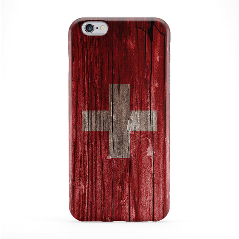 Vintage Wood Flag of Switzerland - Swiss Flag Phone Case by UltraFlags