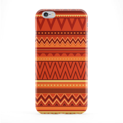 Warm Tribal Aztec Geometric Pattern Full Wrap Protective Phone Case by UltraCases