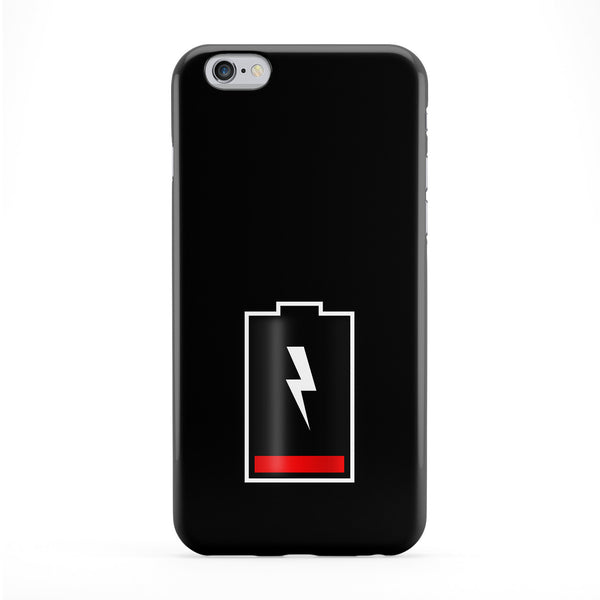 Battery Out of Charge on Plain Black Phone Case by UltraCases