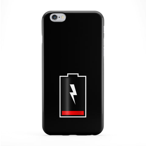 Battery Out of Charge on Plain Black Full Wrap Protective Phone Case by UltraCases