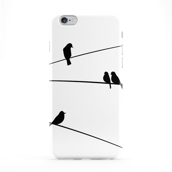Black Birds on Cable White Phone Case by UltraCases