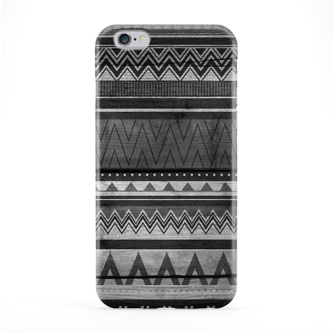 BW Black and White Tribal Aztec Geometric Pattern Full Wrap Protective Phone Case by UltraCases