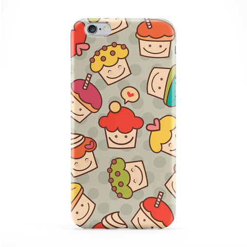 Colourful Cute Cupcakes Pattern on Polka Dots Full Wrap Protective Phone Case by UltraCases