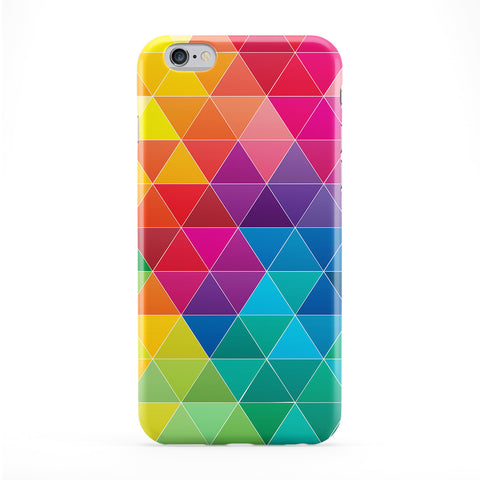 Colourful Geometric Triangles Pattern Full Wrap Protective Phone Case by UltraCases