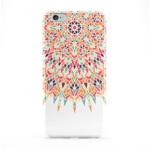 Unique Colourful Mandala Pattern on White Full Wrap Protective Phone Case by UltraCases