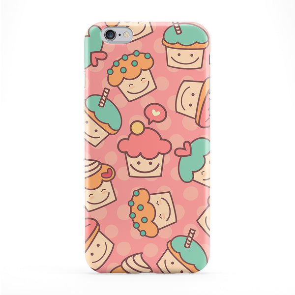 Girly Cupcakes on Pastel Pink Polka Dots Full Wrap Protective Phone Case by UltraCases