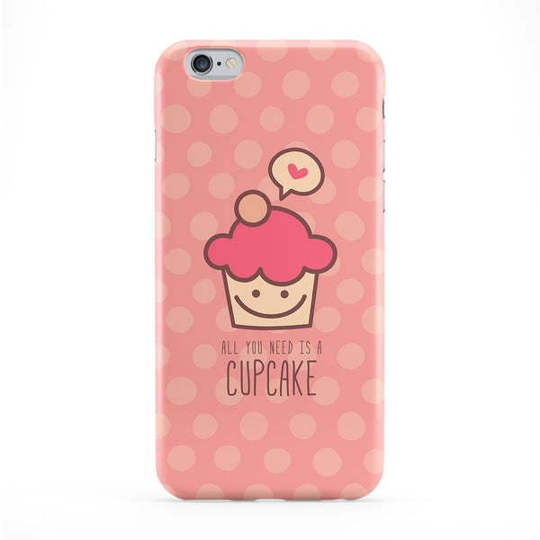 Cute Funny Cupcake on Light Pink Full Wrap Protective Phone Case by UltraCases