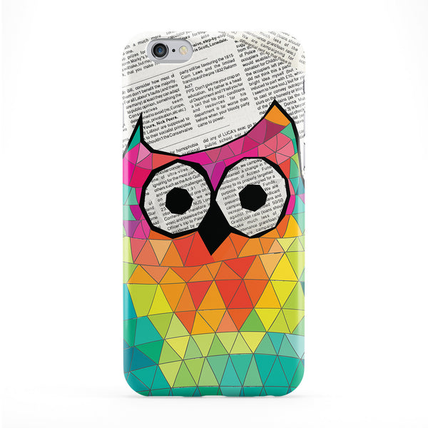Cute and Funny Geometric Triangle Owl on Newspaper Phone Case by UltraCases