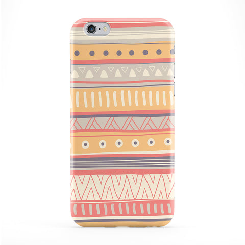Light Hand Drawn Vector Aztec Pattern Full Wrap Protective Phone Case by UltraCases
