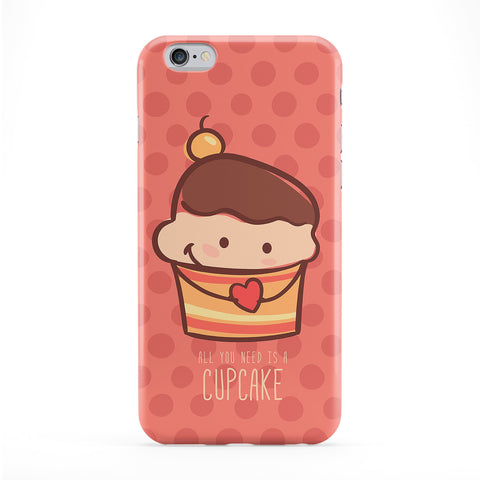 Cute Lovely Cupcake on Pink Polka Dots Full Wrap Protective Phone Case by UltraCases