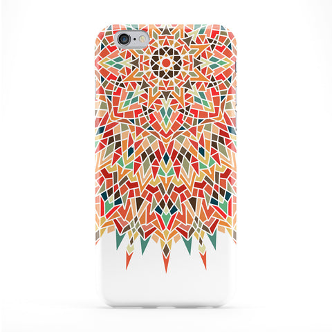 Unique Mandala Geometric Colorful Pattern on White Full Wrap Protective Phone Case by UltraCases