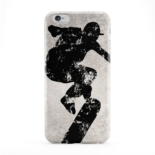 Grunge Skateboarder Black and White Full Wrap Protective Phone Case by UltraCases