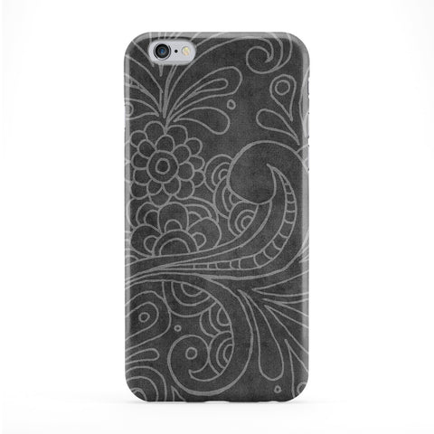 Vector Floral Pattern on Grey Full Wrap Protective Phone Case by UltraCases