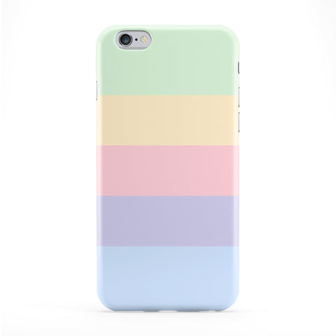 Very Light pastel Color Stripes Full Wrap Protective Phone Case by UltraCases