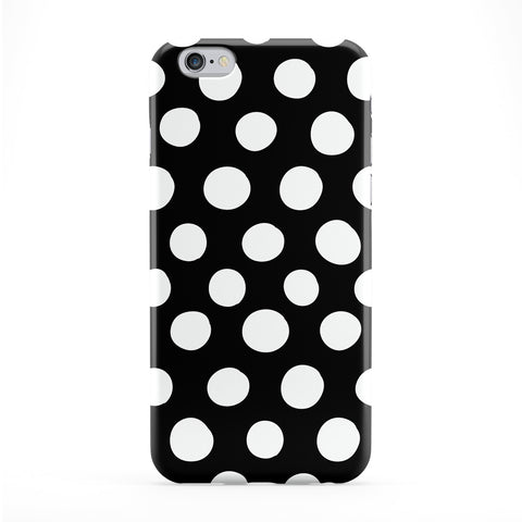 White Dots on Black Polka Dot Pattern Full Wrap Protective Phone Case by UltraCases