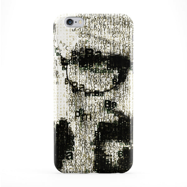 Heisenberg Typography Portrait 01 Full Wrap Protective Phone Case by UltraCases