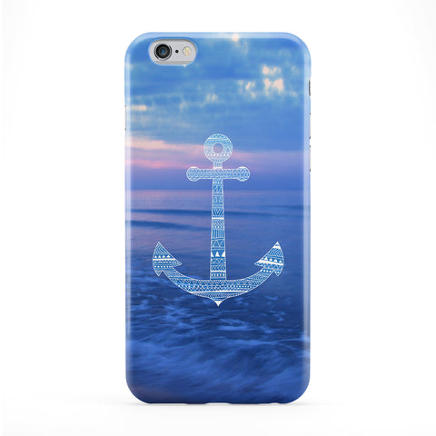 Aztec Anchor on Sea Full Wrap Protective Phone Case by UltraCases