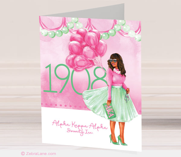 AKA Pretty Girl 1908 Cards