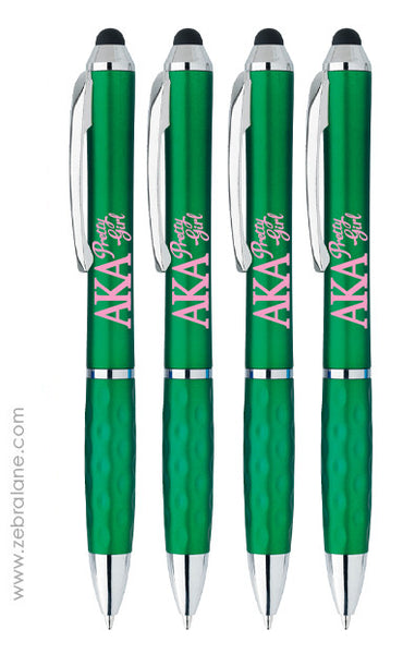 AKA Pretty Girl Stylus Ink Pens - Set of 4