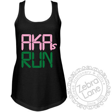 AKAs Run - Race Clock Tank Top