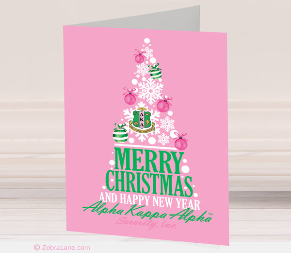 AKA Christmas Tree Cards - Pink