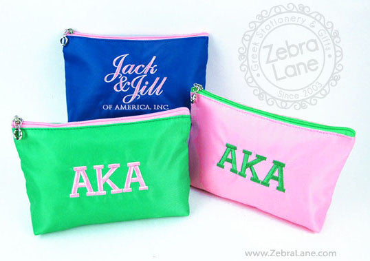 Jack and Jill Blue Cosmetic Bag