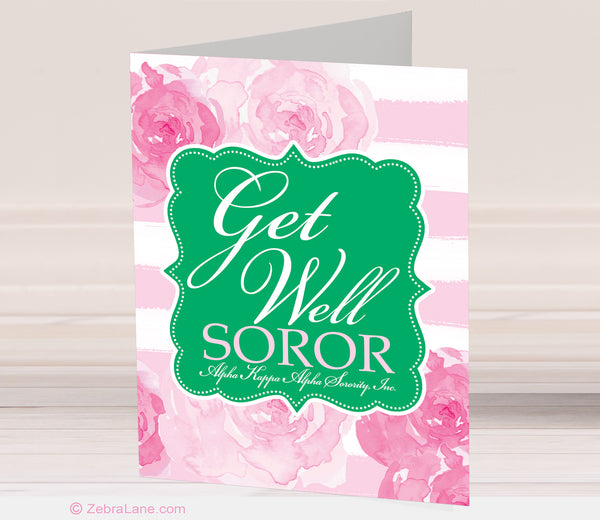 AKA Get Well Rose Cards