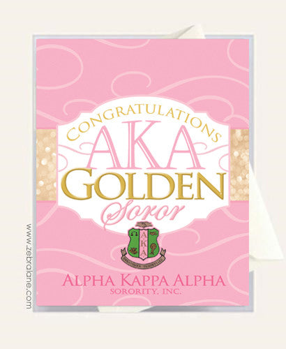 Alpha Kappa Alpha Golden Soror Congratulations Cards