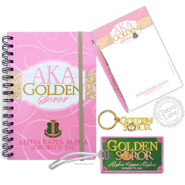 AKA Golden Journal Gift Set