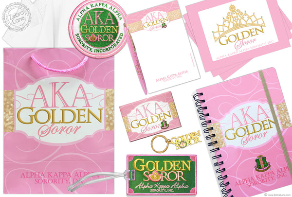 AKA Golden Soror Gift Set – Large