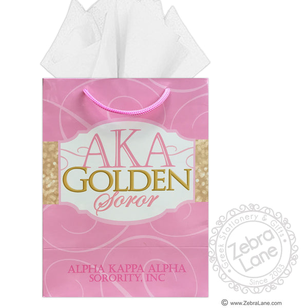 AKA Golden Soror Gift Bag