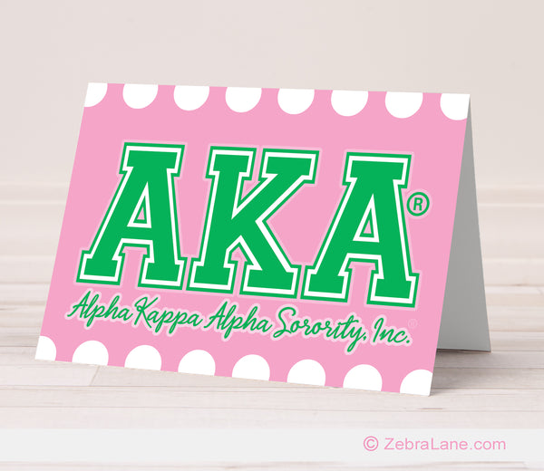AKA Greek Letter Cards - Pink