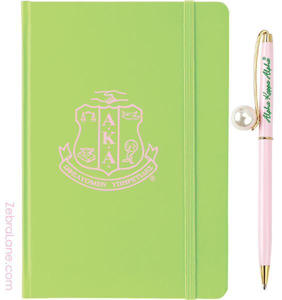 AKA Apple Green Shield Journal and Pen Set