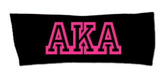 AKA Greek Letter Headband - Black