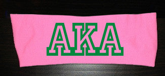 AKA Greek Letter Headband - Pink