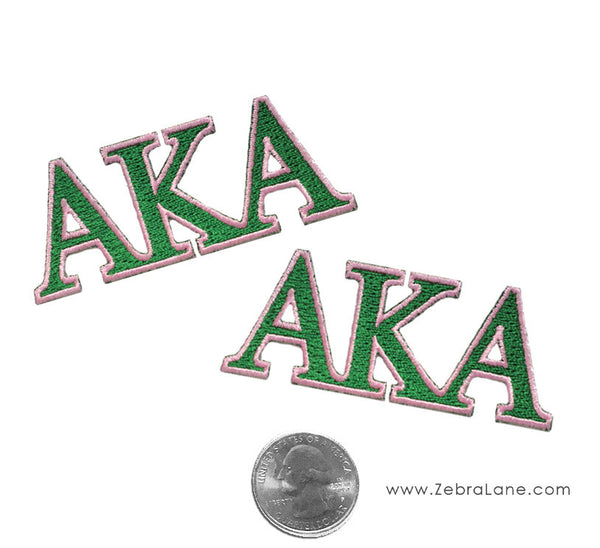 AKA Greek Letters Patch - Small - Set of 2