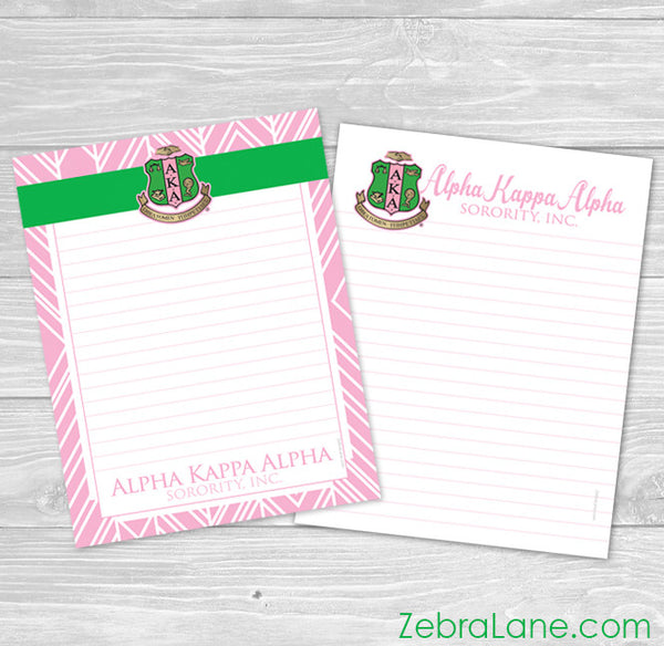 AKA Note Pads 8.5 x 11 inch - Set of 2