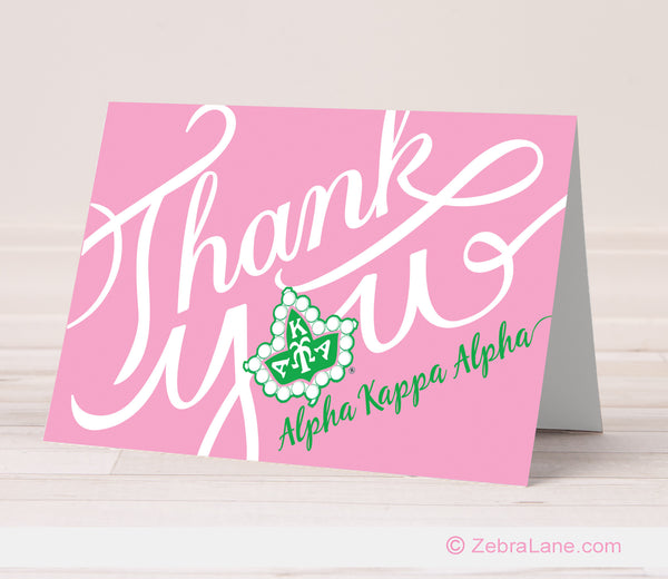 AKA Thank You Cards - Ivy Logo