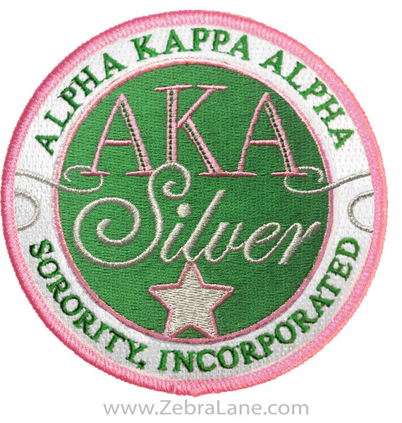 AKA Silver Star Round Patch