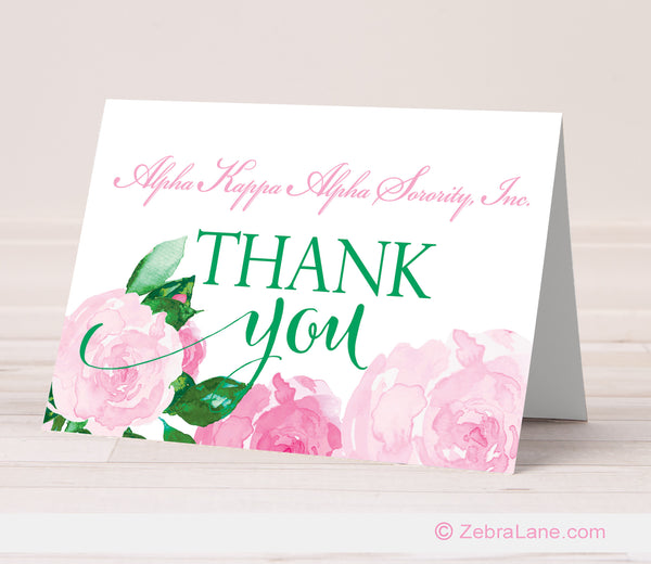 AKA Rose Thank You Cards