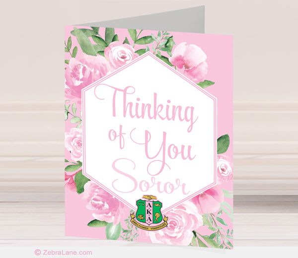 AKA Thinking of You Cards - Shield
