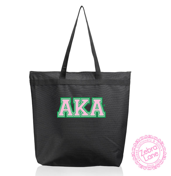 AKA Black Tote Bag - Greek Letters