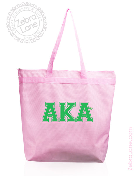 AKA Pink Tote Bag - Greek Letters