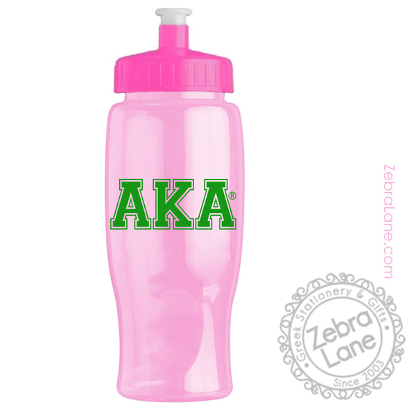 Alpha Kappa Alpha Pink Water Bottle - 27oz