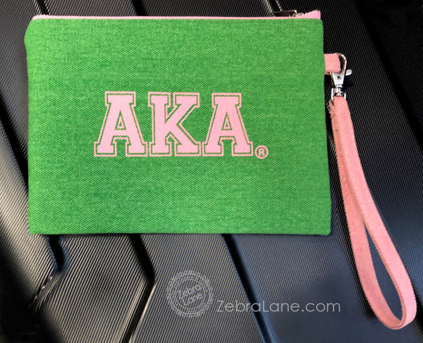 AKA Wristlet – Green Canvas
