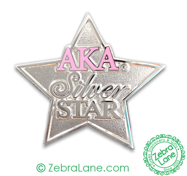 AKA Silver Star Shaped Pin