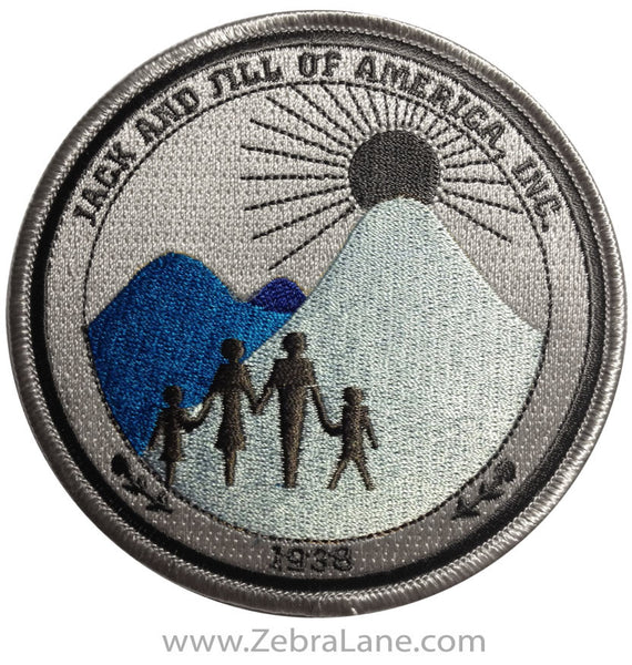 Jack and Jill Logo Patch - Blue & Grey