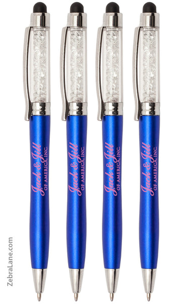 Jack and Jill Crystal Stylus Ink Pens - Set of 4
